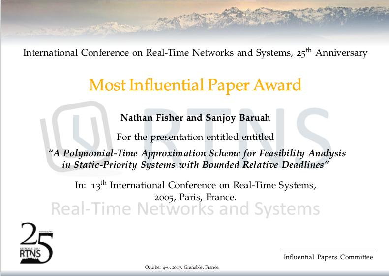 Most Influential Paper